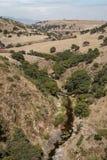 Rural valley near Arcos del Sitio aqueduct Royalty Free Stock Photos