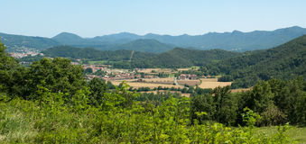 Rural valley in the Spanish Pyrenees Stock Images