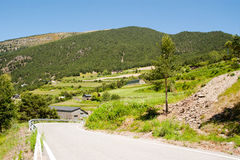 Rural view of Andorra. Rural landscape in the Pyrenees of Andorra Royalty Free Stock Photo