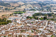 Rural view of old small Spanish town. Stock Photo