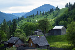 Rural view of a small mountain community Royalty Free Stock Images