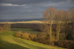Cotswold landscape in winter Stock Image