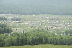 Rural view of Xinjiang pasture Stock Image
