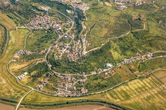 Rural village - aerial view Royalty Free Stock Photography