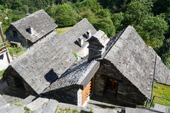 The rural village of Corippo on Verzasca valley Stock Photo