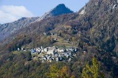 The rural village of Costa on Centovalli valley Stock Photo