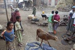 A rural village, Ethiopia Stock Photo