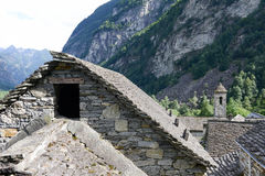 The rural village of Foroglio on Bavona valley Royalty Free Stock Images