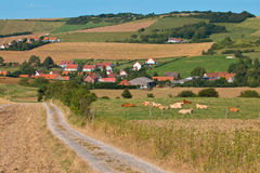 Rural village in France Royalty Free Stock Photo