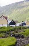 The rural village of Gjoft. Tourist attraction in the Faeroe Islands, Gjoft Stock Images