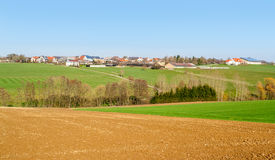 Rural village in Hohenlohe Royalty Free Stock Images