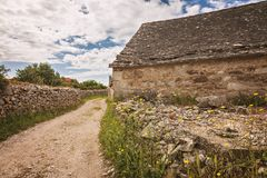 Rural village house Croatia Stock Image