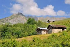 Rural Village In Mountain Stock Photography