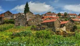 Rural village of Lamas de Olo in Vila Real stock photo