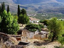 Rural Village landscape, Greece Stock Photo