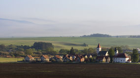 Rural village landscape Royalty Free Stock Image