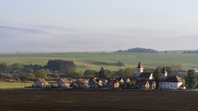 Rural village landscape Royalty Free Stock Photo