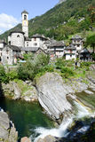 The rural village of Lavertezzo on Verzasca valley Royalty Free Stock Image