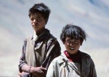 Rural village life in Tibet Stock Photo