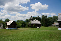 rural village museum in Stara Lubovna Royalty Free Stock Images