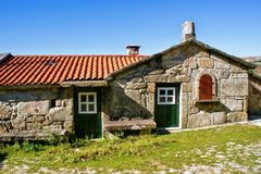 Rural village in National Park of Peneda Geres stock photography