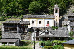 The rural village of Riveo on Maggia valley Stock Photo