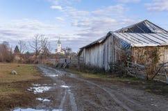 Rural village road royalty free stock photo