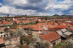 Rural village in Romania Royalty Free Stock Images
