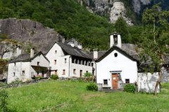 The rural village of Sabbione on Maggia valley Stock Photo