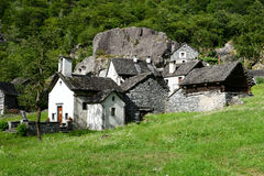The rural village of Sabbione on Maggia valley Royalty Free Stock Photos