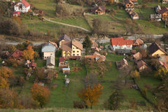 Rural village. Small village in the countryside of Romania stock image