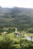 Rural village in the south of Norway Stock Photos