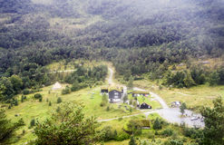 Rural village in the south of Norway Stock Image