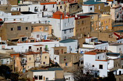 Rural village in south Spain. Typical rural village in Andalusia, south of Spain. White villages area Stock Photos