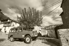 Rural village in Spain. Orbaneja del Castillo. Burgos Stock Image