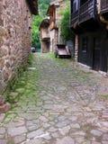 Rural village street Royalty Free Stock Images