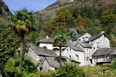 The rural village of Verscio Royalty Free Stock Photography