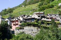 The rural village of Vogorno on Verzasca valley Stock Photos