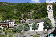 The rural village of Vogorno on Verzasca valley Stock Images