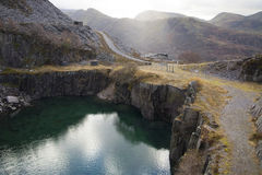 Old slate quarry Royalty Free Stock Image