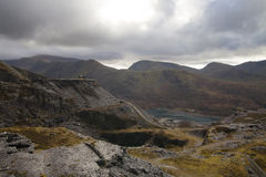 Old slate quarry in mountains Royalty Free Stock Photography