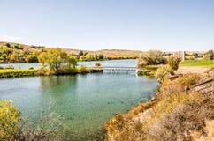 Rural Walking Bridge Stock Photography
