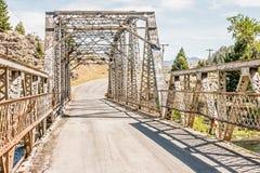 Rural Warren Truss Bridge Stock Image