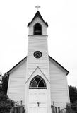 Rural White Church in the Country Stock Images
