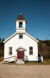 Rural white church. White church and steeple of a baptist church in usa Royalty Free Stock Images