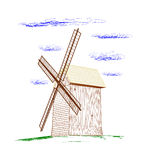 Rural windmill. Royalty Free Stock Photos