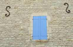 Rural windows in france Royalty Free Stock Photo