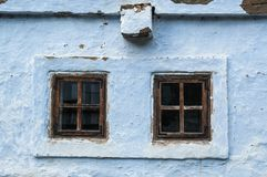 Rural windows on traditional house Stock Photos