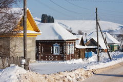 Rural winter landscape. In the Perm region Royalty Free Stock Images