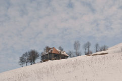 Rural winter landscape. A winter landscape in rural area royalty free stock photos